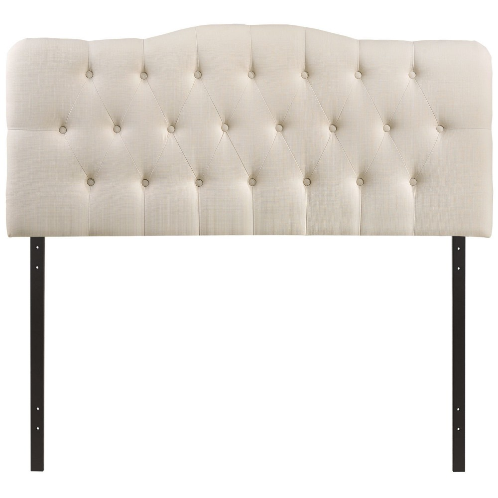 Annabel King Upholstered Fabric Headboard Ivory - Modway