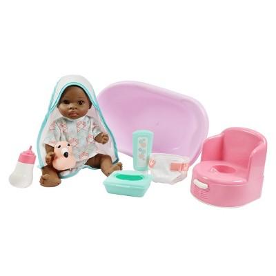 "Madame Alexander Small Wonder 14"" Baby Doll Bath Set - Brown Eyes"