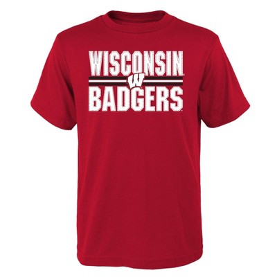 NCAA Wisconsin Badgers Boys' Short Sleeve Core T-Shirt