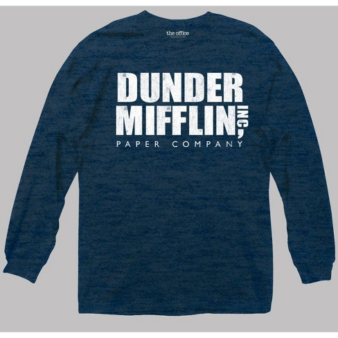 feb91e3149597 Men s The Office Long Sleeve Graphic T-Shirt Heathered Deep Navy ...