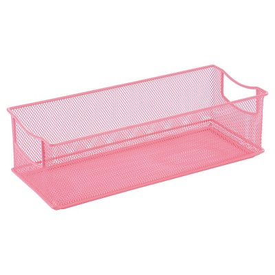 Rectangle Wire Decorative Bin Pink - Pillowfort™