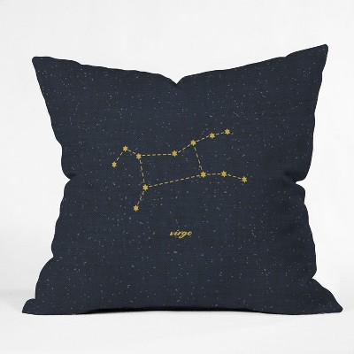 Holli Zollinger Constellation Virgo Square Throw Pillow Blue - Deny Designs