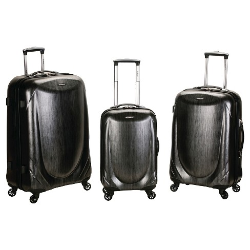Rockland Hyperspace 3pc Polycarbonate Spinner Luggage Set - Gray - image 1 of 3