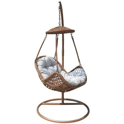 Princeton 2pc Hanging Basket Chair & Stand Set - Courtyard Casual