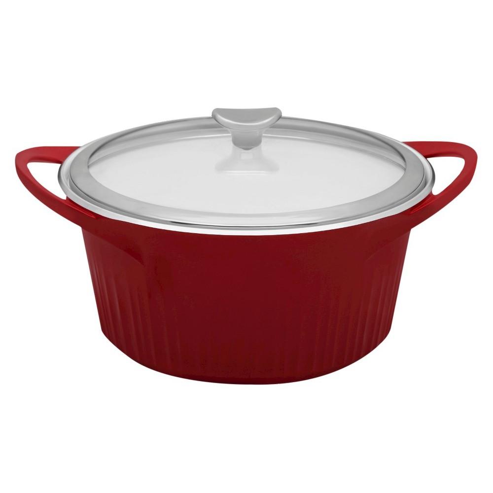 Corningware Cast Alum Dutch Oven Red