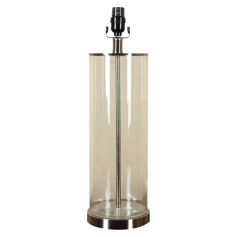 Fillable Glass Lamp Base - Clear Large (Includes CFL Bulb) - Threshold™ - image 1 of 5