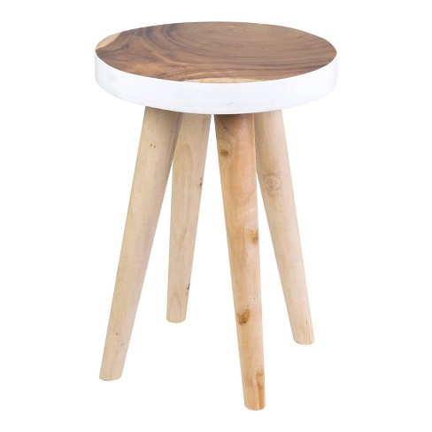Marcella End Table White - East At Main - image 1 of 4