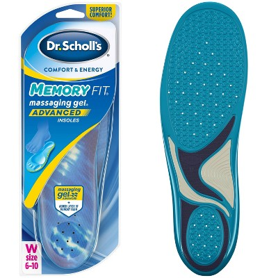 Dr. Scholl's Comfort & Energy Memory Fit Massaging Gel Advanced Insoles for Women - Size (6-10)