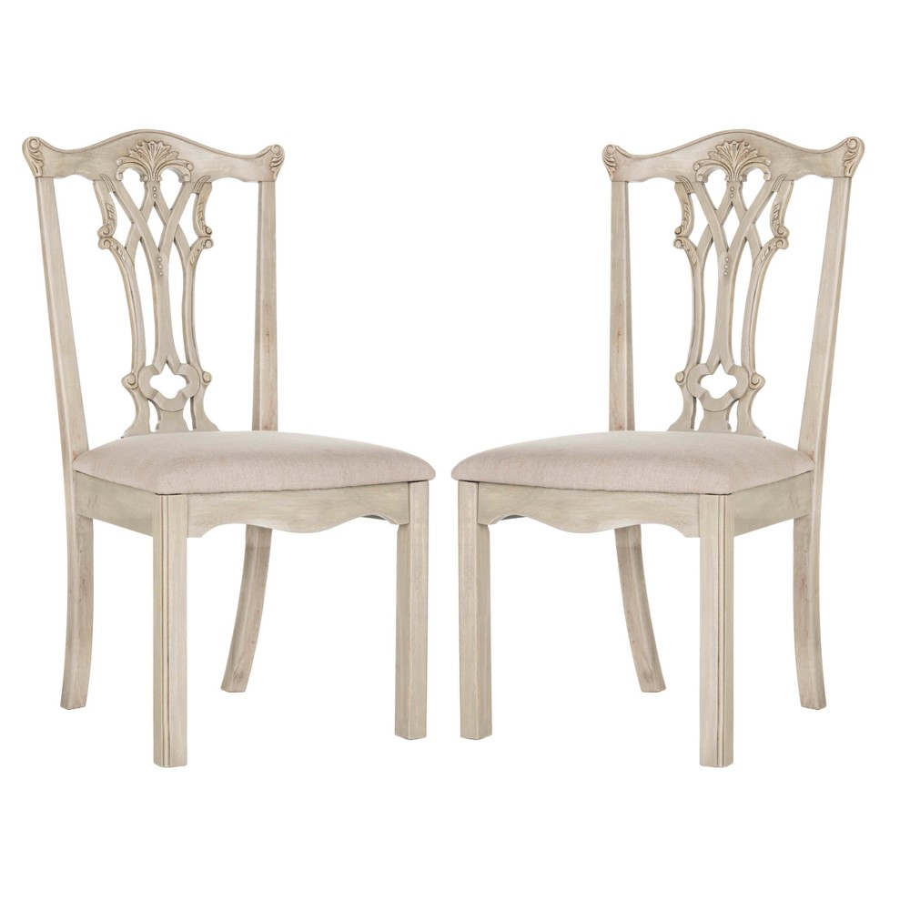 Set of 2 Dining Chairs Taupe (Brown) Gray - Safavieh