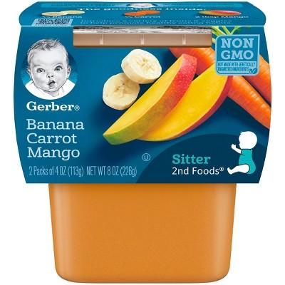 Gerber 2nd Foods Banana Carrot Mango, 4oz, 2ct