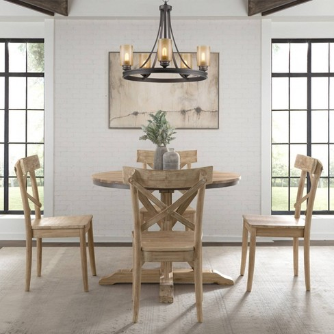 Keaton Round Standard Height Dining Table Beach Picket House Furnishings