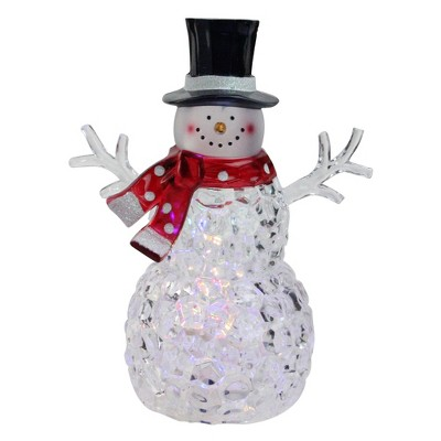 "Northlight 8.5"" Battery Operated LED Lighted Snowman with Scarf and Top Hat"