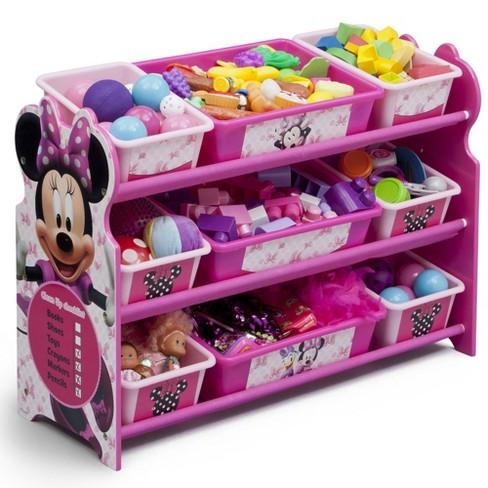 9 Bin Disney Minnie Mouse Plastic Toy Organizer - Delta Children - image 1 of 4