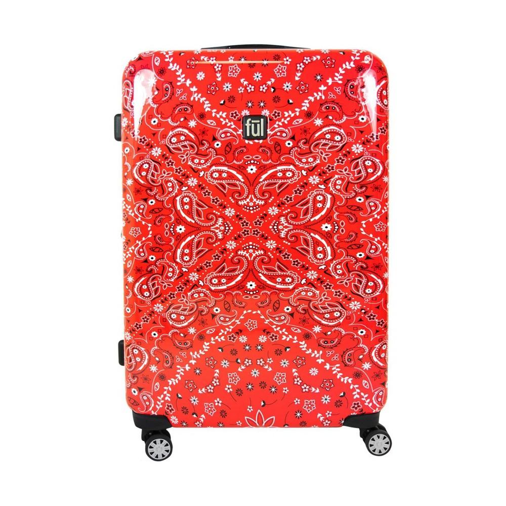 "Image of ""FUL 25"""" Bandana Hardside Spinner Suitcase - Red, Size: Small"""