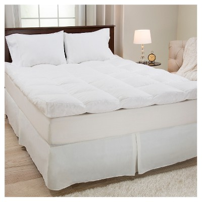 Down & Duck Feather 4  Gusset Mattress Topper (King)White - Yorkshire Home®