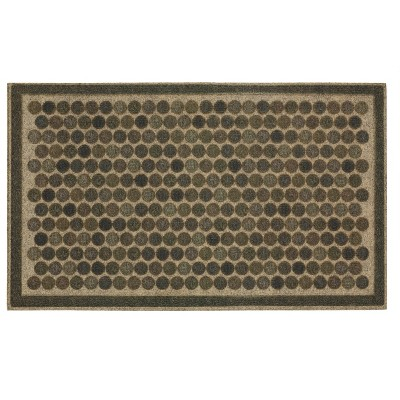"1'6""x2'6"" Ornamental Entry Mat Colorful Dots Gray - Mohawk"