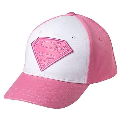 750fcd79fb5 Toddler Girls  Supergirl Baseball Hat - Pink   Target