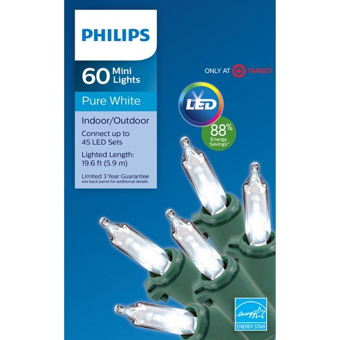 - Philips 60ct Christmas LED Smooth Mini String Light : Target