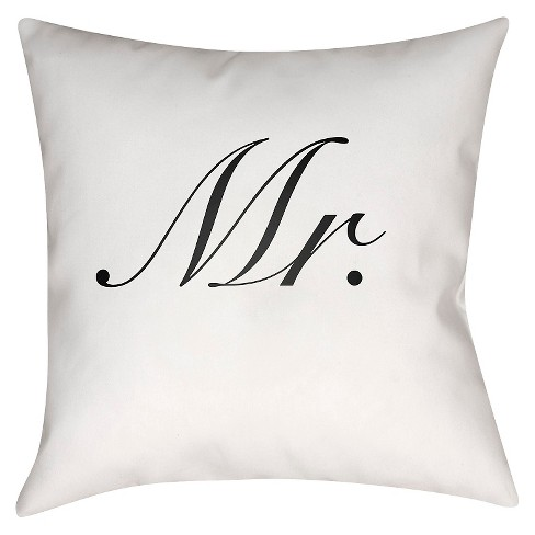 Classy Couple Mr Throw Pillow - Surya - image 1 of 2