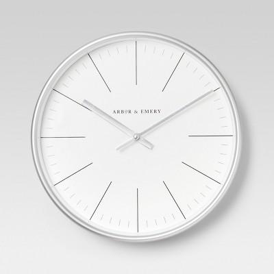 Decorative Wall Clock - Silver - Project 62™
