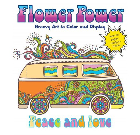 Flower Power : Groovy Art to Color and Display (Paperback) (Caitlin Peterson) - image 1 of 1