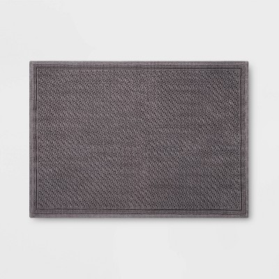 30 x21  Performance Solid Bath Mat Dark Gray - Threshold™