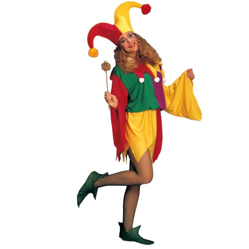 Halloween Women's King's Jester Costume, Size: Small