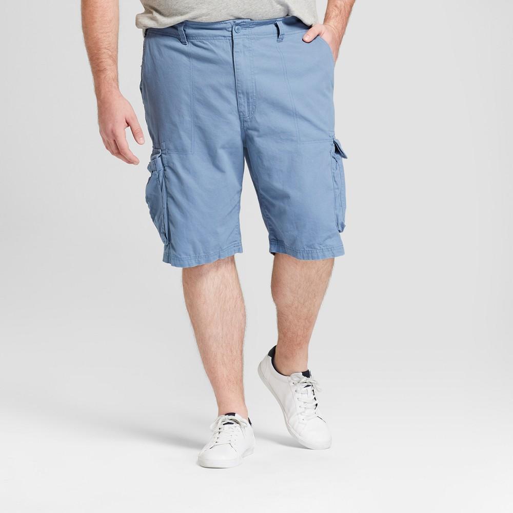 Men's 11 Twill Big & Tall Cargo Shorts - Goodfellow & Co Calm Blue 58