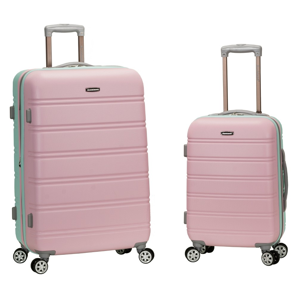 Rockland 2pc Expandable Spinner Luggage Set - Mint (Green)