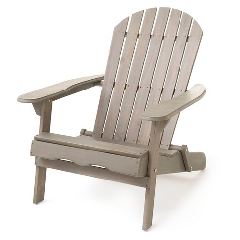 Hanlee Folding Wood Adirondack Chair - Christopher Knight Home - image 1 of 4