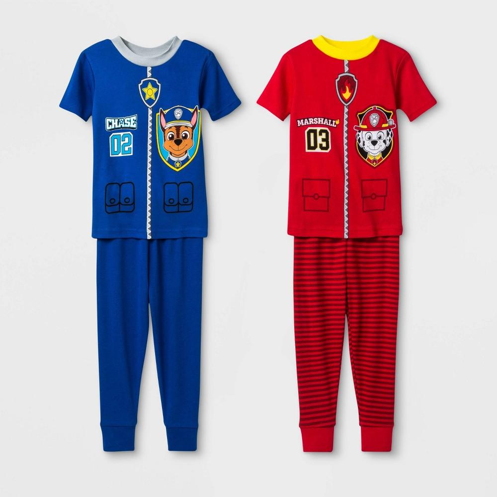 Image of Baby Boys' 4pc PAW Patrol Pajama Set - Navy 12M, Boy's, Blue
