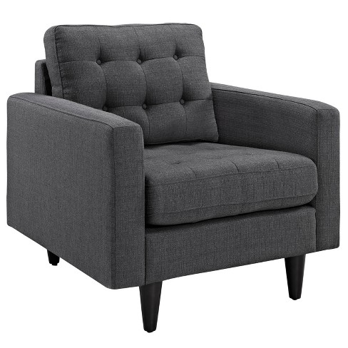 Empress Upholstered Armchair Gray - Modway - image 1 of 5