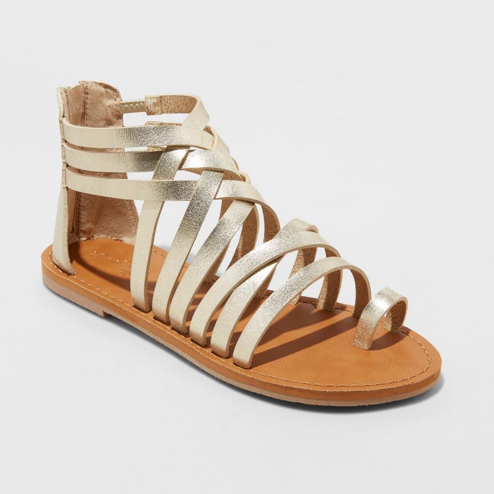 Women's Makena Gladiator Sandals - Universal Thread Gold 12