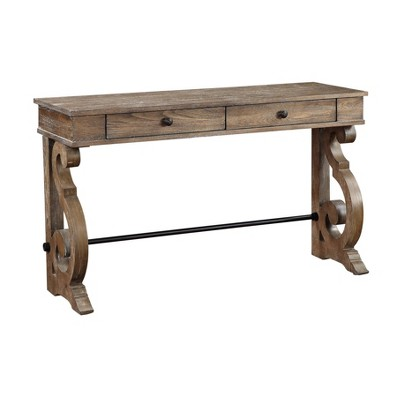 Sherwood 2 Drawer Console Table Brown - Treasure Trove Accents