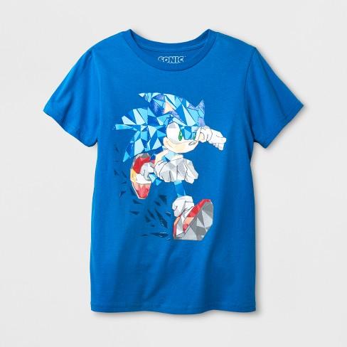 Boys Sonic The Hedgehog Short Sleeve T Shirt Royal Blue L Target