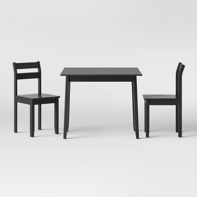 3pc Expandable Dining Table Set Black - Threshold™