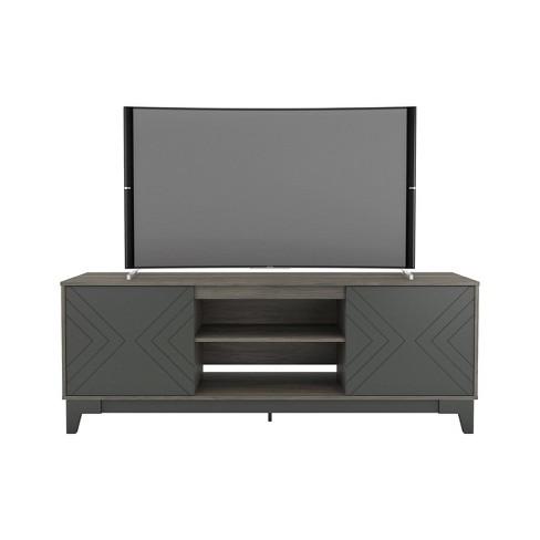 "72"" Arrow Tv Stand Gray/Charcoal - Nexera - image 1 of 4"