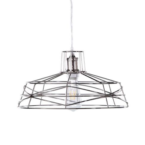 Lir Wire Cage Pendant Lamp Brushed Nickel Aiden Lane