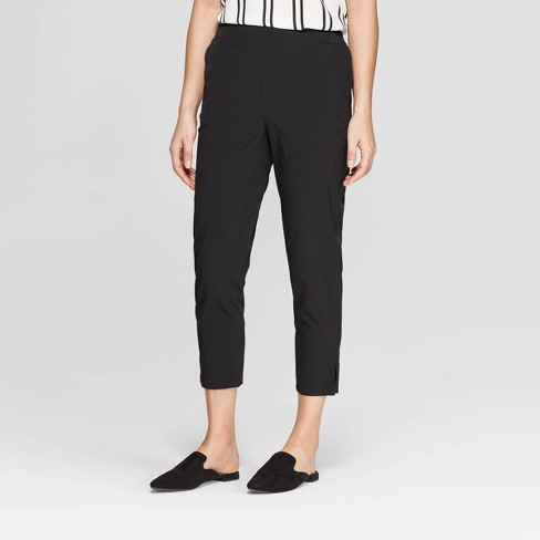 Women's Mid-Rise Slim Woven Straight Pants - A New Day™ - image 1 of 3