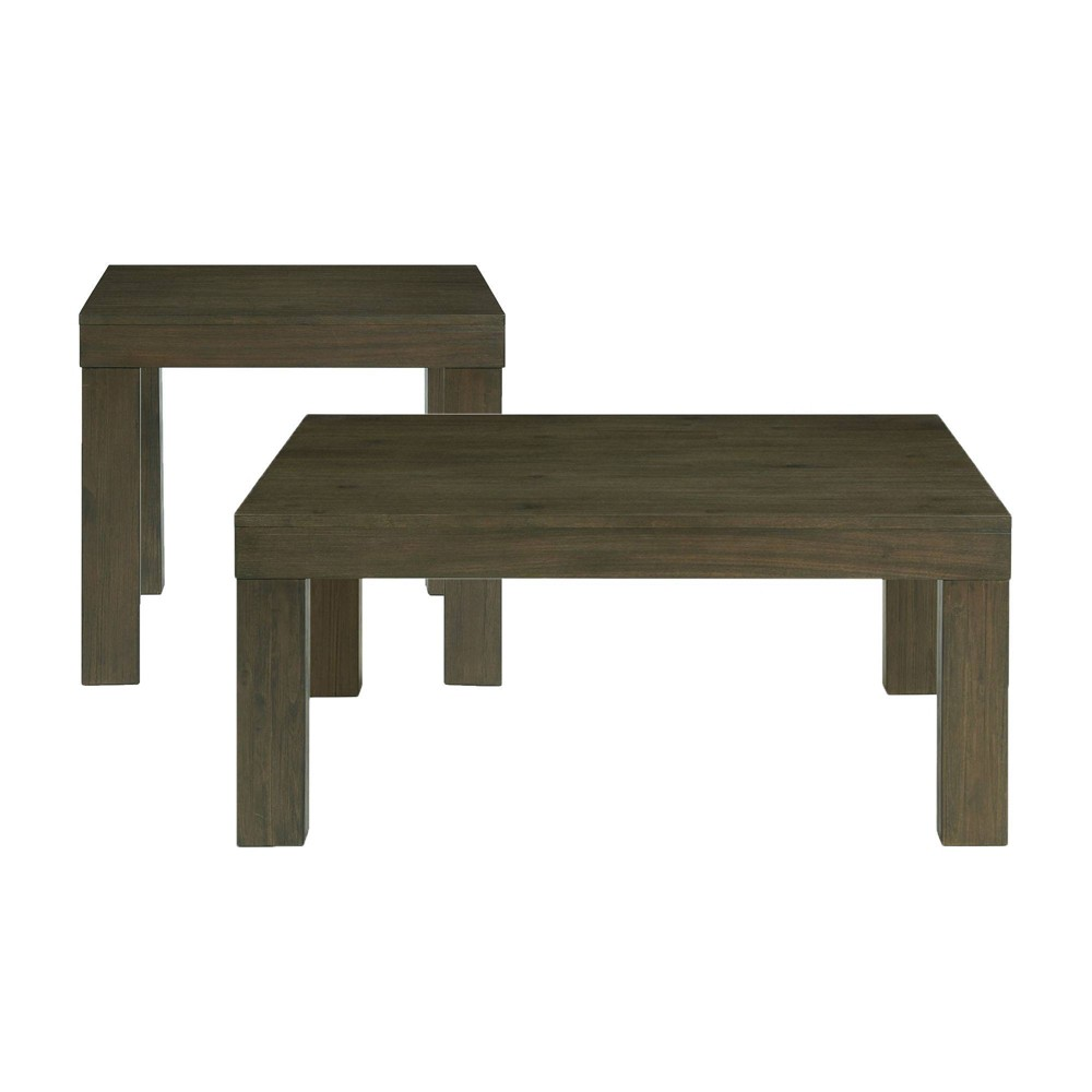 2pc Jasper Coffee And End Table Set Dark Brown Picket House Furnishings