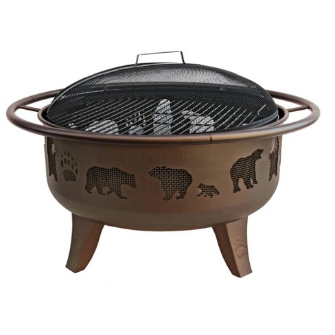 "36"" Patio Lights Fire Dance Wood Burning Fire Pit - Brown - Landmann - image 1 of 4"