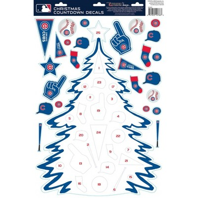 MLB Chicago Cubs Christmas Countdown Decals