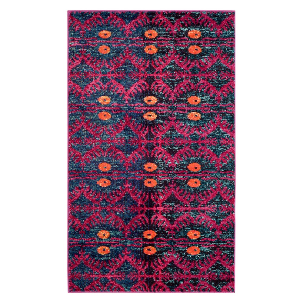 3X5 Geometric Design Accent Rug Pink - Safavieh Compare