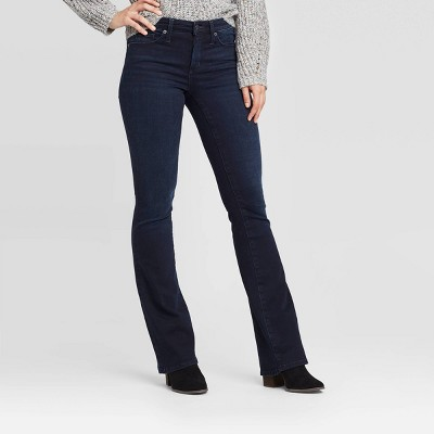 Women's High-Rise Flare Jeans - Universal Thread™ Dark wash 6