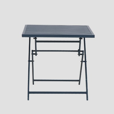 Aluminum Slat Folding Patio Bistro Table - Blue - Project 62™