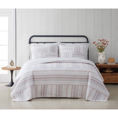 Evelyn Cotton Yarn Dye Quilt Set - Cottage Classics
