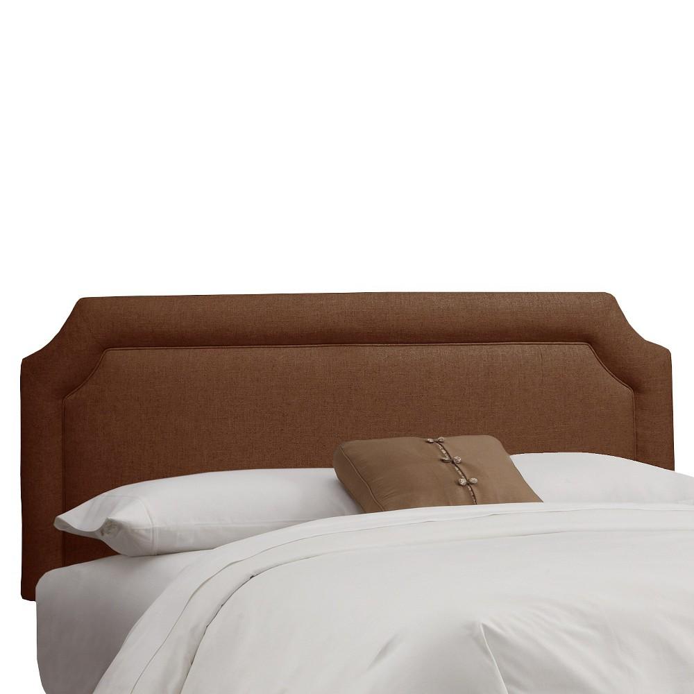 Twin Clarendon Notched Headboard Chocolate (Brown) - Skyline Furniture