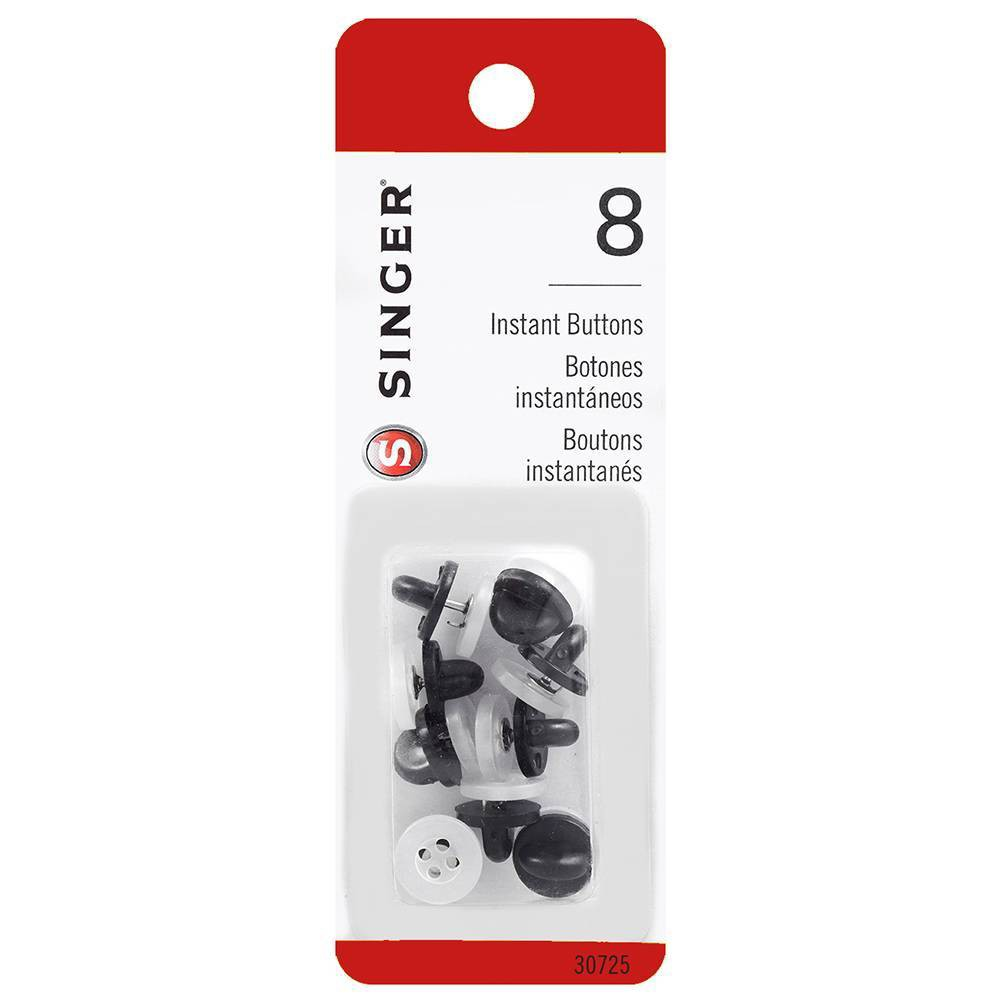 Image of Singer Instant Sewing Buttons - White