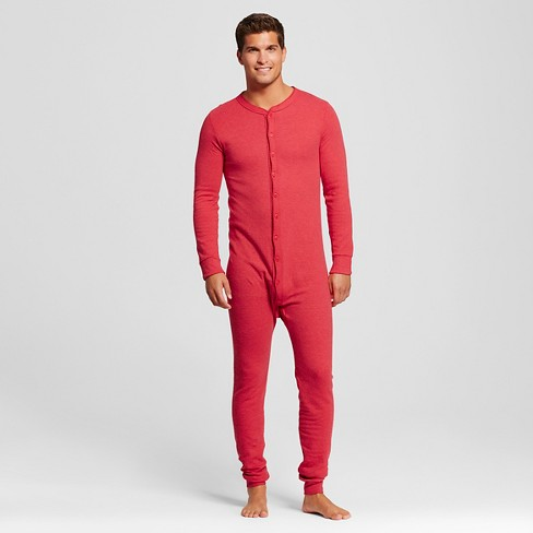 Men's Coldpruf Authentic Union Suit Red L -Thermal Underwear - image 1 of 2