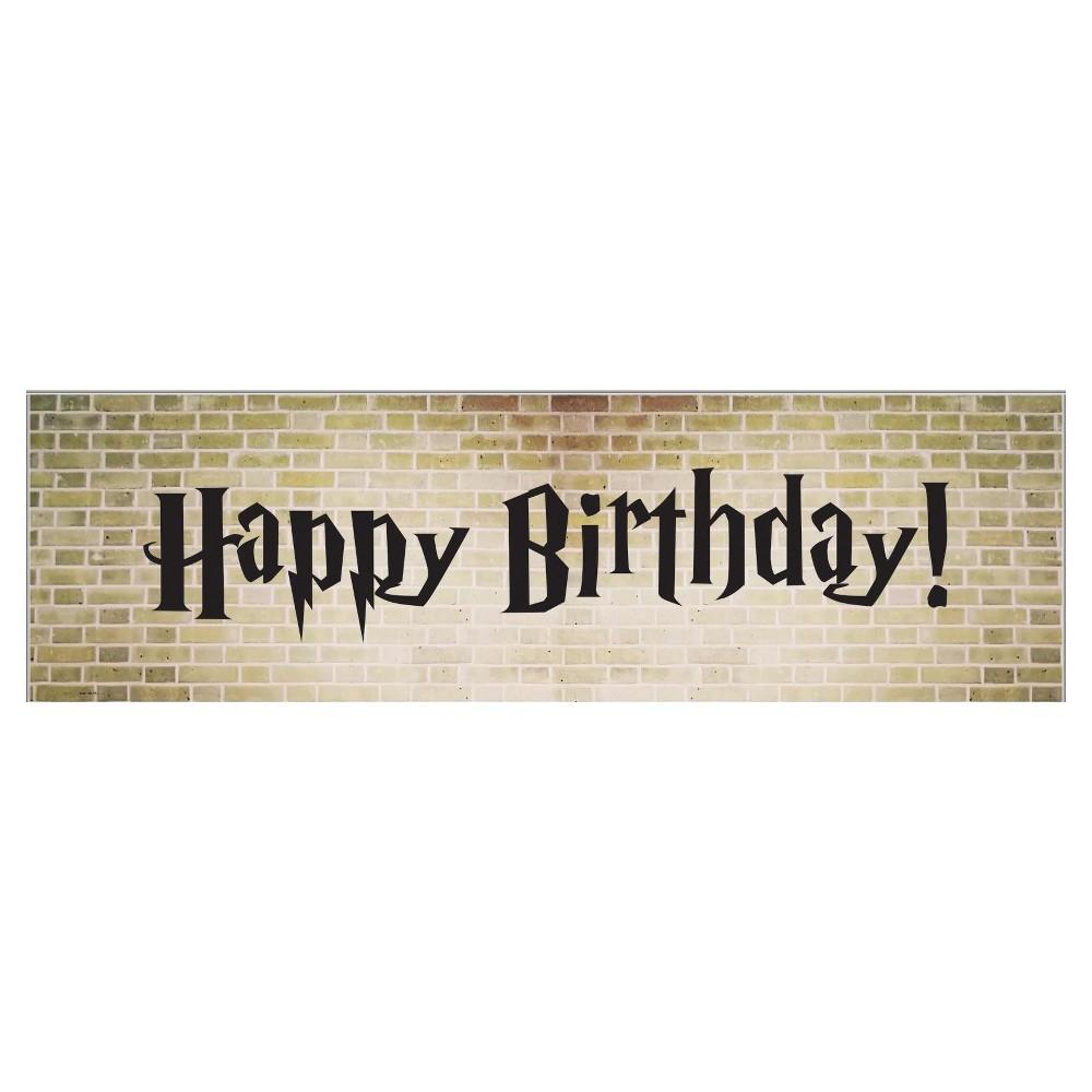 Wizard Express Happy Birthday Banner